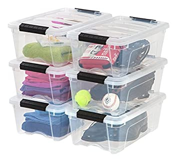 clear bin with lid