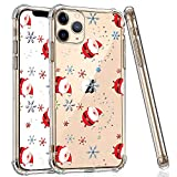 YEPO iPhone 11 Pro Max Clear Case, Shockproof Christmas