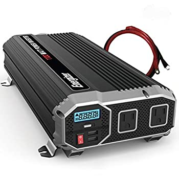 Energizer 1100 watts power inverter modified sine wave car inverter 12v to 110v two AC outlets two USB ports 2.4A ea DC to AC converter battery cables included – UL Certified under 458 by METLab