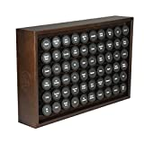 AllSpice Wood Spice Rack, Includes 60 4oz Jars- Walnut
