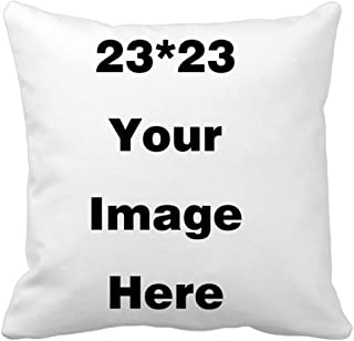 Shop&Three Custom Design Photos or Text Outdoor/Indoor Throw Pillowcase,Personalized Pet Photo Pillow, Love Photo Throw Pillow,Wedding Keepsake Throw Pillow (23