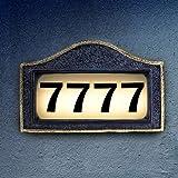 Solar House Number Plaque, Address Signs for Houses, Bright Backlit LED Lights...