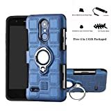 Labanema LG K8 2017 Funda, 360 Rotating Ring Grip Stand Holder Capa TPU + PC Shockproof Anti-rasguños teléfono Caso protección Cáscara Cover para LG K8 2017 / LG Aristo / LV3 / MS210 - Azul Marino