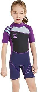 YAMTHR Kids Wetsuit 2.5mm Premium Neoprene Shorty Full Swimsuit One Piece UV Protection for Toddler Baby Children and Girls Boys