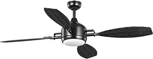 """lowest Rudder Collection wholesale Indoor/Outdoor 2021 56"""" Four-Blade Black Ceiling Fan online"""