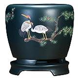 CHOUE Verde Maceteros Ceramica Grande con Orificio de Drenaje Hecho a Mano Maceta Pequena Ceramica para Mamá, Oficina, Vacaciones Ø 24 cm x H 29.5 cm