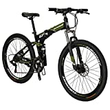 Eurobike YX 27.5 Folding Mountaine Bikes 2 Colors (Green)