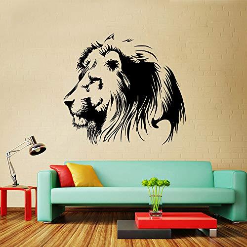 jiuyaomai Lion icon Fashion Art wandaufkleber für Baby Zimmer fernsehwände Wohnzimmer Dekoration zubehör Brown 41x42 cm
