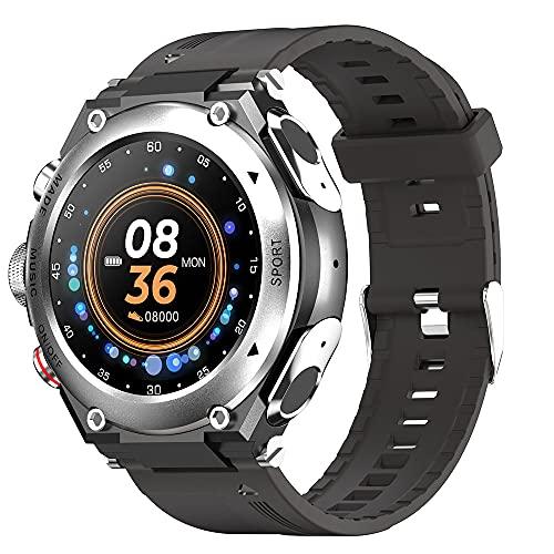 T92 Smart Watch Men TWS Bluetooth 5.0 Auricular Llamada Música Deporte SmartWatch 2021 Termómetro DIY Dials New Long Standby, Monsteramy (Color : Silver)
