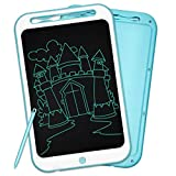 LCD Writing Tablet, Richgv 12 Inch Colorful Digital Ewriter Electronic Graphics Tablet Portable Mini Board Handwriting Pad Drawing Tablet with Memory Lock Suitable for Kids Home School Office (Blue-S)