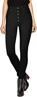 Best high waisted button fly jeans black Reviews