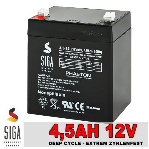 Blei Akku 12V 4,5Ah Batterie Bleigel Elektroauto Solar Notstrom 4ah 12Volt