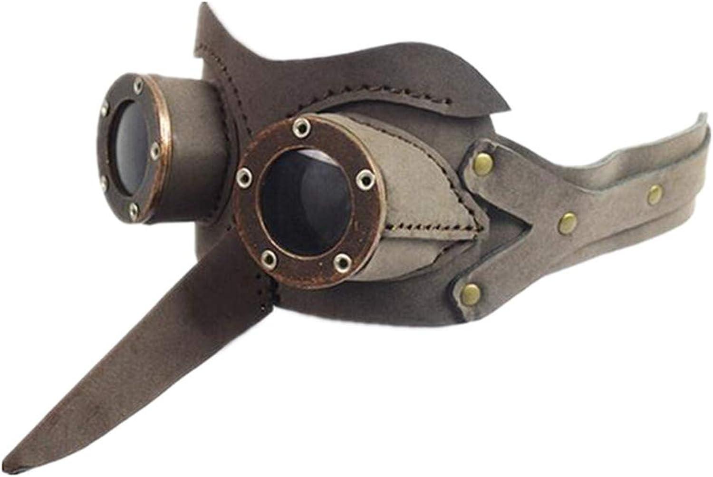 Jackdaine Steampunk Plague Bird's Eyes Goggles Goggles Halloween Ball Mask