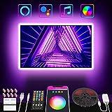 Nobent Striscia Led 3M, Intelligente RGBIC Retroilluminazione LED TV con Sincronizza con la Musica...