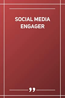 Social Media Engager: Blank Lined Notebook