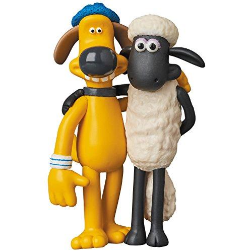 Unbekannt Shaun The Sheep UDF Aardman Animation #2 Mini Figure Shaun & Bitzer 8 cm Medicom