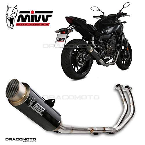 MT-07 Escape Completo MIVV Gp Pro 2014- Carbono Alto