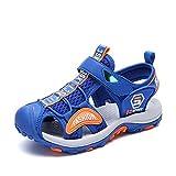 Sandalias Niño con Plantillas de Trekking Senderismo Zapatillas Niña de Zapatos Unisex Azul 36 EU
