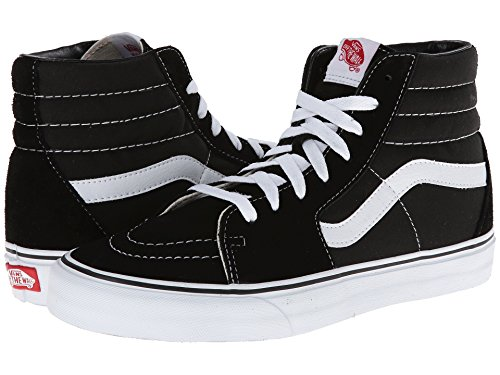 Vans Men's Sk8-Hi MTE Skate Shoe (5 D(M) US, Black/Black/White Canvas)