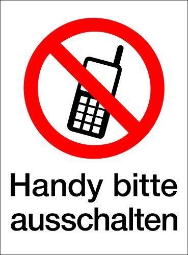 Schild Handy Bitte ausschalten, Kunststoff, selbstklebend