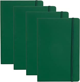"""Simply Genius (4 Pack) A5 Hardcover Leatherette Journals to Write in for Women, Faux Leather Journal for Men, Writing Journal Notebook Lined, 192pg Ruled, 5.7"""" x 8.4"""""""