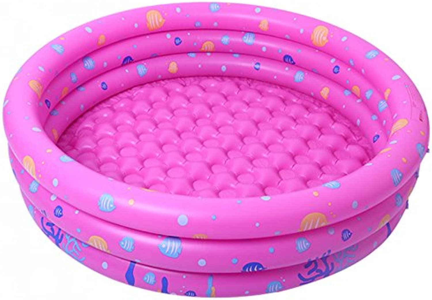 Moonvvin 3 Layer Inflatable Round Swimming Pool Ball Pit Safe PVC for 12 Year Old Babies Toddlers Outdoor Garden Parties (Pink)