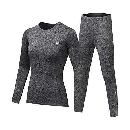 ETbotu - Ropa deportiva de forro polar para otoo e invierno, gruesa, disfraz clido para mujeres y hombres, Gris femme, medium