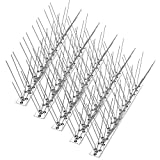 wavraging Bird Spikes for Pigeons Small Birds Cats 4.6M (15 feet), Anti Climb Security Wall Fence Stainless Steel Birds Defence Spikes Bird Arrow Repeller Deterrent Spikes-Cover, Set of 14