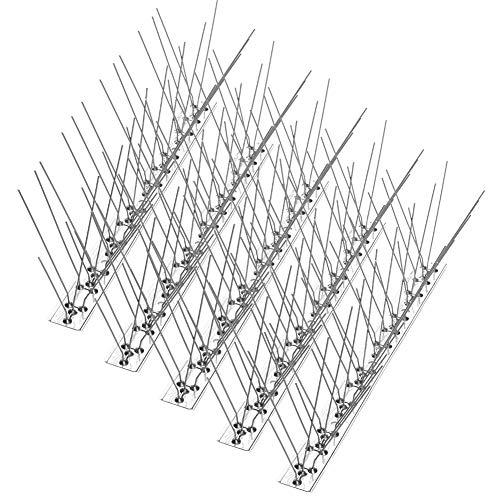 Picos de pájaros para Palomas Gatos de pájaros pequeños 4.6M, Cerca de la Pared de Seguridad Anti Escalada Picos de Defensa de pájaros Repelente de Flecha de pájaro, 33 cm por Juego (Juego de 14)