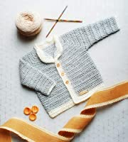 Vegan Crochet Newborn Baby Cardigan