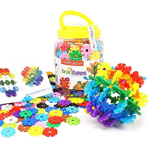 Afunx Brain Flakes 500 Piece Interlocking Plastic Disc Set | A Creative and Educational Alternative to Building Blocks