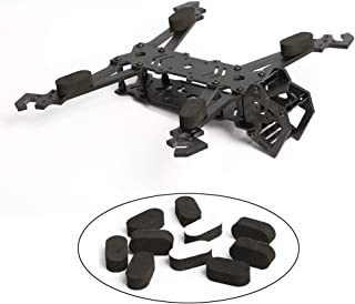 TECHTOO FPV Black Sponge Mat Landing Skid Pad Gear Anti-Vibration Shockproof Foam Sticky Tape for rc multirotor Quadcopter Racing Copter Drone Mini-Quad