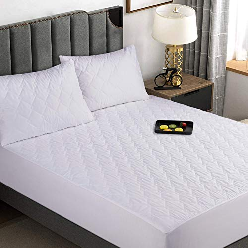 K&A Quilted Waterproof Mattress Topper Double, Ultra Soft Noiseless and Breathable Microfiber Mattress Protector/Cover - Hypoallergenic and Dust Mite Protection - 40CM Extra Deep (Double 137x190 cm)