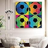 UIOLK Carteles e Impresiones murales Modernos de Estilo nórdico Aficionados al fútbol Pintura en Lienzo murales de fútbol Pasillo del Hotel decoración del hogar Moda Carteles Populares