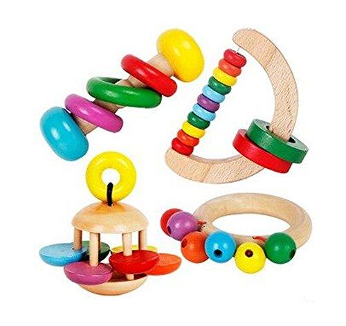 Saisissant Belle Colorful Enfants main en bois jouet éducatif de Bell
