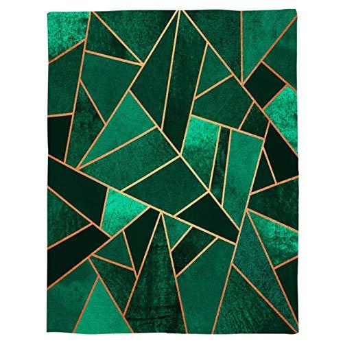 ZY123 Coperta in Flanella Verde Smeraldo Coperta in Pile in Microfibra, Coperta Verde per Tutte Le Stagioni A Quadri per Divano, Divano, Auto