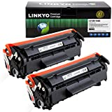 LINKYO Compatible Toner Cartridge Replacement for Canon 104 (Black, 2-Pack)