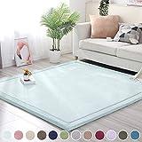 SODKK Carpet Klein Teppich, 130x210cm, Gemütlich Strapazierfähig für Wohnzimmer, Schlafzimmmer, Kinderzimmer, Esszimme - Himmel blau