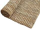 Irongate Classic Jute Solid Handwoven Reversible Ribbed Jute Area Rug, 7'6'...