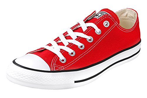 Converse All Star Ox, Sandalias con Plataforma Unisex Adulto, Rojo (Red), 41 EU