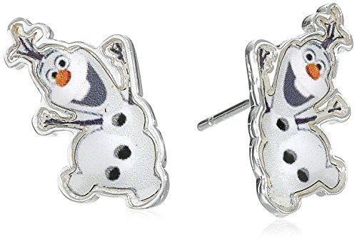 Disney Frozen Olaf The Snowman Stud Earrings. Silver Plated. Frozen Gift Box