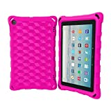 All-New Tablet 8 Case (Compatible with 6th/7th/8th Generation Tablets, 2016 and 2017 and 2018 Releases) - DJ&RPPQ Anti Slip Shockproof Light Weight Protective Case [Kids Friendly] - Pink