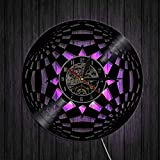 WERWN Caleidoscopio LP Reloj de Registro de Tiempo Círculo Moderno Reloj de Pared de Vinilo Reloj Reloj de Pared Decoración de Pared artística