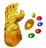 XXF New Infinity Gauntlet for Adult, Iron Man Glove LED with Removable Magnet Infinity Stones-3 Flash Mode. (Adult)
