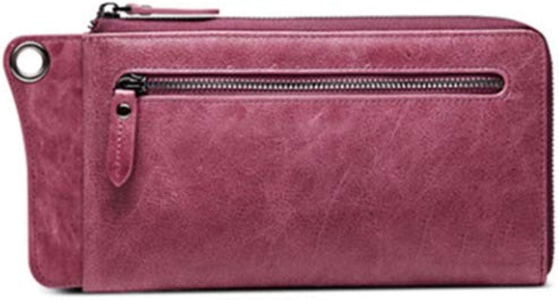 Olydmsky Damenbörse, große Brieftasche Reißverschluss Leder Leder Leder Brieftasche Öl Wachs Leder-Geldbörsen B07GV8PCLD 13bfbe
