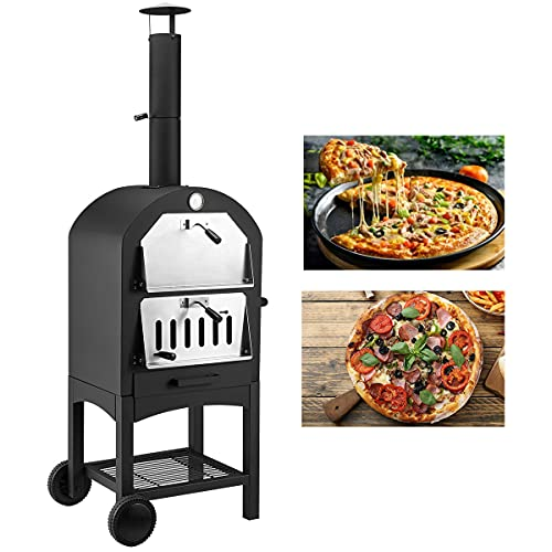 U-MAX Outdoor Pizza Oven Wood Fire with...