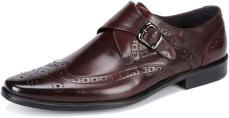 8ff55611f734 JCZR Men's Business shoes shoes shoes Brock Carved Sets of Feet ...