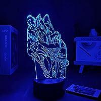 Manga Narutoed Anime Figure For Home Lights Led Light Anime Figure Gift For Boyfriend Kids Fans Bedroom night light 3D Lamp-リモコン