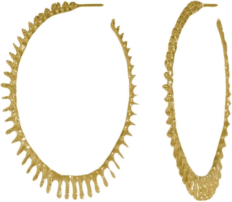 Aurum by Gudbjorg Womens Asterias Hoop Earrings  gold
