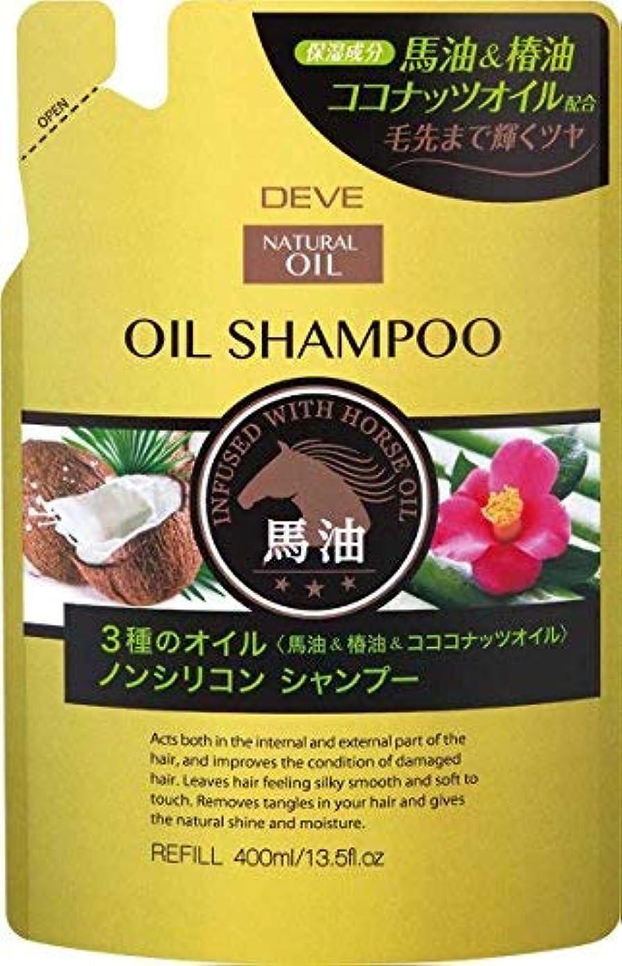 世界苛性床を掃除する熊野油脂 ディブ 3種のオイルシャンプー(馬油?椿油?ココナッツオイル)400ml × 24点